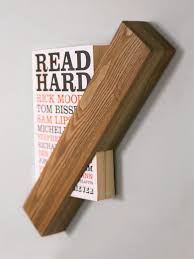 Single Book Display Stand wandregal holz holzstück diy regal bücher kreative wandgestaltung 81