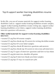 Top 8 support worker learning disabilities resume samples In this file, you  can ref resume ...