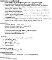 Soccer Coach Resume Template Blockbusterpage Interesting Soccer Coach Resume