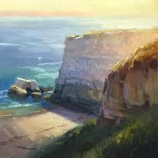 california cliffs 13 x 13 oil on canvas by richard