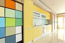 Yellow Wall Kitchen Colorful Kitchens Colorful Kitchen With Mural Wallpaper Colorful
