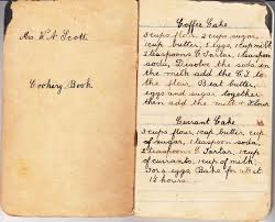 strong foundations family recipe friday great grandmother scott s recipe book