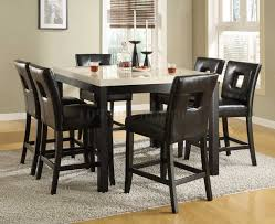 dining room sets custom butcher block island long rectangle table beautiful square black dining table