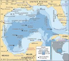 Texas Gulf Coast Water Depth Chart Gulf Of Mexico Gulf North America Britannica