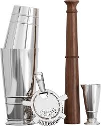 Everyone is celebrating the holidays differently this year and are having to get… Crafthouse By Fortessa Professional Barware Bar Tools By Charles Joly Boston Shaker Gift Set Silver Kitchen Dining Amazon Com