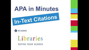 In Text Citations Humber Libraries