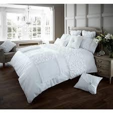verina luxury duvet cover set white