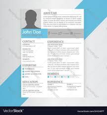 Indesign Modern Resume Template Cv Template Design Print Modern Resume Template