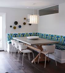 dining room banquette furniture. Lovely Lighting And Colorful Seating Define A Fabulous Banquette Dining [Design: Eric Aust Architect Room Furniture