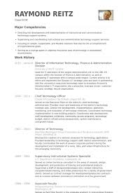 Information Technology Resume Examples Impressive Director Of Information Technology Resume Samples VisualCV Resume