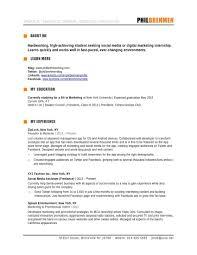 Marketing Resume Template resume templates marketing medicinabg 56