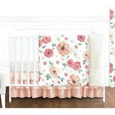 diy peach and gray crib bedding