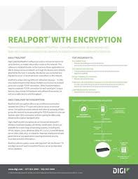 easy serial to ethernet connectivity international patented encryption feature of realport read