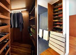 above in a client s 650 square foot chelsea loft robert garneau of studio garneau designed an efficient closet and shelving system replete with pull down