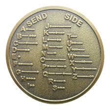 Us 4 15 30 Off Cw Morse Code Decoder Chart Medal Commemorative Metal Coin Gift In Non Currency Coins From Home Garden On Aliexpress