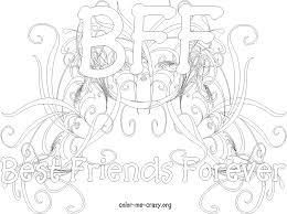 Small Picture BFF Coloring Pages for Girls httpwwwcolor me crazyorg