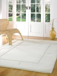 plain ivory modern bordered design thick dense pile 100 wool rugs round square