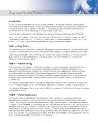 Drug And Alcohol Policy Marathon Petroleum Company Lp Drug And