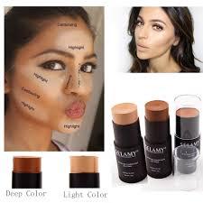 selamy brand makeup bronzer face concealer stick for light dark skin long lasting contouring base concealer primer makeup in concealer from beauty health
