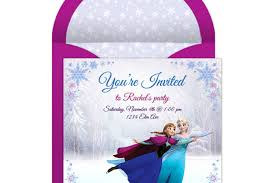 Electronic Birthday Invite Frozen Online Party Invitation Disney Family