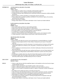 Teacher Resume Samples Reading Teacher Resume Samples Velvet Jobs 13