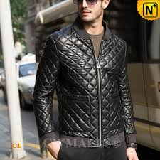 CWMALLS® Quilted Leather Jacket for Men CW806012 & Quilted Leather Jacket Mens CW806012 www.cwmalls.com Adamdwight.com