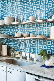blue and white cement tiles biscuit works remodelista