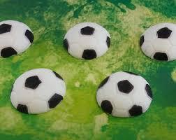 Edible Soccer Ball Cake Decorations 100D Fondant soccer ball and jersey cake topper Soccer ball 8