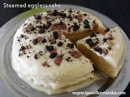 Steamed Eggless Cake Recipe How To Make Steamed Cake Easy Cooker