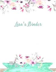Binder Cover Page Wedding Cover Page Template