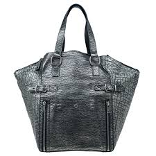 grey leather croc embossed large downtown tote nextprev prevnext