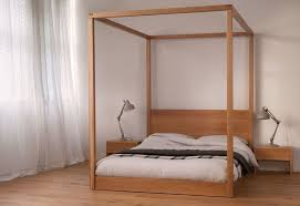 modern four poster bed king. Simple Four Low Four Poster Bed Using Beautiful Solid Wood With White Curtains Also  Twin Industrial Bedside Lamps Throughout Modern King P