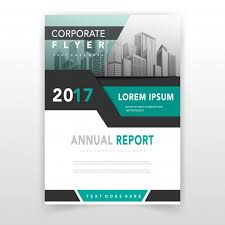 Green Cover Annual Report Template Vector Free Download Beauteous Annual Report Template Design