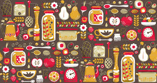 Wallpaper Kitchen Mums Kitchen Wallpaper Wallpaper Irrimiri Spoonflower