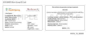2018 care advantage and prescription plan identification card