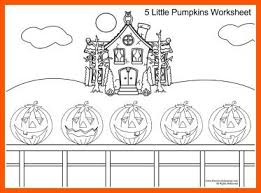 five little pumpkins song and coloring page for kids from kiboomu