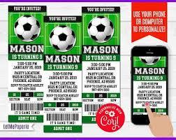 Soccer Party Invitations Soccer Invitation Etsy