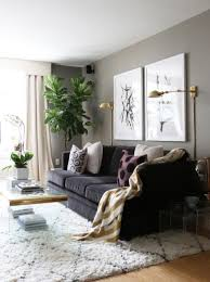 wall lighting living room. Gold Floor Lamp | Moroccan Rug Fiddle Leaf Fig Plant With Acrylic Coffee Table Wall Lighting Living Room O