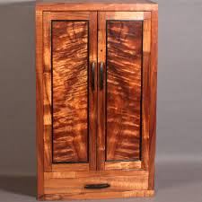 Bookmatched Koa Wall Mounted Jewelry Cabinet R96