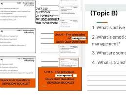 Nage Unit 6 Salary Chart Btec Business Unit 6 The Principles Of Management Complete