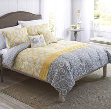 yellow and gray medallion 5 piece bedding forter set from better better homes and gardens bedding