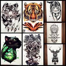 Acquista Foresta Re Di Tigre Tatuaggio Temporaneo Adesivi Uomini