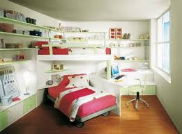 Kids Desk For Bedroom Small Kids Bedroom With Bunk Bed And Red Bed Color Corner Desk And