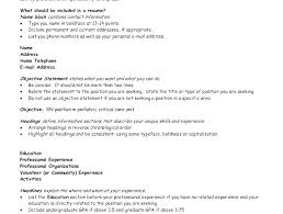 opening objective for resume resume opening statement examples opening statement for resume