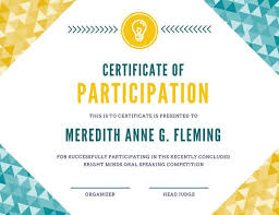 Cooking Certificate Template Cool Customize 48 Participation Certificate Templates Online Canva