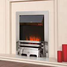 celsi accent traditional electric fire in chrome