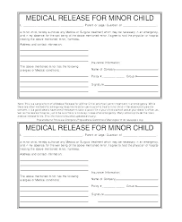 Medical Release Consent Form Template Consent To Release Information