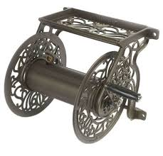 liberty garden s 704 wall mount cast aluminum hose reel for
