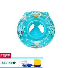 baby infant inflatable seat security swimming pool float swim ring under arm bath ring with handle