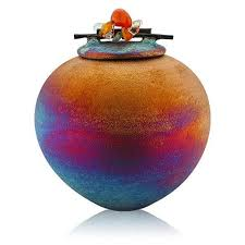Dream Catcher Jar Raku Dream Catcher Jar with Gemstone Lid Equinox Gifts 52